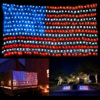 American Flag Waterproof Lights with 420 Super Bright LEDs July 4th Independence