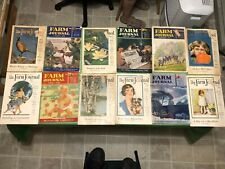 LOT OF 18 1930'S FARM JOURNAL MAGAZINE GREAT ARTICLES & ADVERTISEMENTS EQUIPMENT