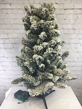 "Bethlehem Lights 34"" Prelit Flocked Tree Christmas Decor Home"