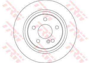 TRW Brake Rotor Rear DF4271S fits Volkswagen Golf 1.4 TSI Mk6 (118kw), 1.4 TS...