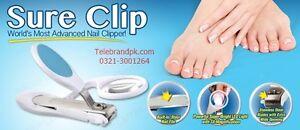 Sure Clip Nail Clipper with Built-In Magnifier Light Toenail Fingernail Pedicure