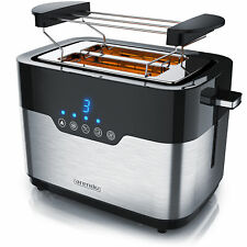 Arendo Toaster 2 Scheiben 920 Watt LED Edelstahl extra breite Schlitze 7 Stufen