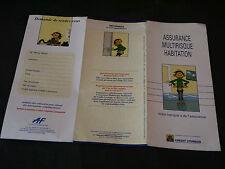FRANQUIN GASTON LAGAFFE PUBLICITE CREDIT LYONNAIS ASSURANCE HABITATION 1995