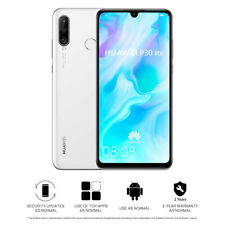 "New Huawei P30 Lite Pearl White 128GB 6.15"" 4GB LTE Android 9.0 Sim Free UK"