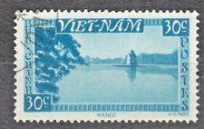 WIETNAM VIETNAM Fr. 1951 used SC#03 30c stamp, Lake Hanoi.