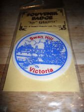 Swan Hill-Souvenir Cloth Badge-New in Packet-1970's-Glaser-Riverboat-Australia.