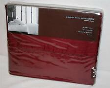 TWIN Flat Sheet Hudson Park 500T Solid Dark Burgundy Merlot Red Pima Cotton Wine