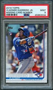 VLADIMIR GUERRERO JR 2019 TOPPS MISSING CARD NUMBER NNO ROOKIE RC PSA 9 MINT📈📈