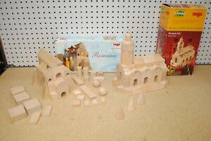 Haba 0474 Romanic & 0478 Baroque Master Builder Wood Block Architecture Sets