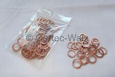 100 STÜCK Kupferringe Dichtringe Kupferring Cu 8x12x1,0 mm DIN 7603 Form A