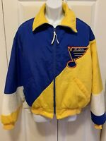 Vintage Swingster Brand NHL St Louis Blues Hockey Jacket Coat Mens Large Zip USA