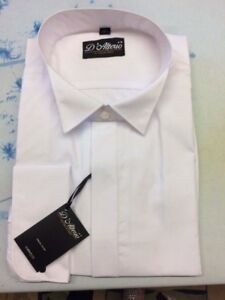 MENS NEW WHITE WING COLLAR SHIRT FOR WEDDING PARTY ETC 14.5 15.5 17 17.5 18 19