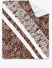 NIP Victorias Secret Pink Leopard Print Soft Sherpa Blanket