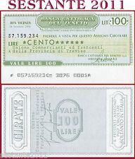BANCA CATTOLICA DEL VENETO Lire 100 29.10. 1976 UNIONE COMMERCIANTI TREVISO B132