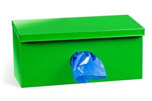 Dog Waste Bag Dispenser Strong Metal with 250 Biodegradable Pet Poop Bags blue