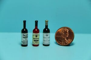 Dollhouse Miniature Replica Wine Set Chianti Cabernet and Pinot Noir HR53951