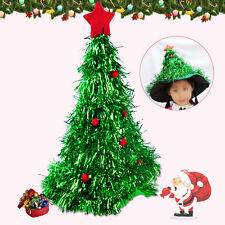 Unisex Funny Xmas Christmas Tree Hat Fancy Cap Red Ornaments Costume Party