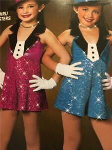 Dance Costume Jazz Tap Pageant  romper medium child Art Stone sisters