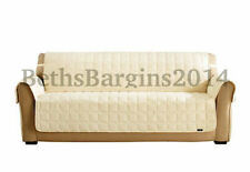 Sure Fit Sofa Waterproof Pet Cover Furniture Throw with Strap in Cream