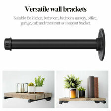 Industrial Wall Mount Iron Pipe Shelf Holder Bracket for Wood Floating Shelves