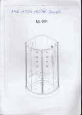 NOOK Hydro massage douche ensemble ML-S01 Instruction booklet