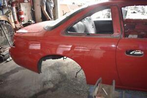 1995-1998 NISSAN 240SX KA24DE S14 SILVIA PASSENGER RIGHT REAR QUARTER PANEL RED
