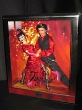 2002 NIB FAO Schwarz Barbie & Ken Real Hair Gift Set Dolls Tango Dance Flower