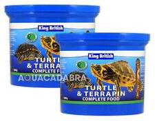 KING BRITISH TURTLE & TERRAPIN 200g COMPLETE FOOD PELLETS SHRIMPS KRILL AQUARIUM