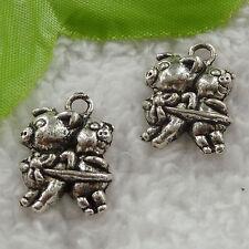 free ship 80 pcs tibet silver pig charms 22x16mm #3118
