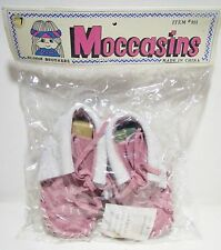 Native American Indian Baby Toddler Girl Child Doll Moccasins Shoes Pink Size 4