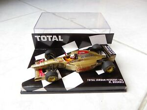 Jordan Peugeot 196 Martin Brundle #12 MINICHAMPS 1/43 F1 1996 Total Box