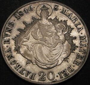 HUNGARY 20 Krajczar/Kreuzer 1846B - Silver - VF - 2554 ¤