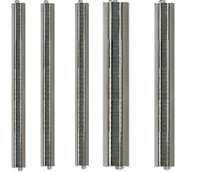 "NEW Bachmann E-Z Train Track Silver/Gray 36"" Straight Track 5 Pcs HO Scale BA..."