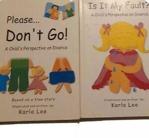 Child's perspective on divorce 2 Karla Lee Paperback Books Please don't go