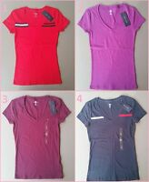 Tommy Hilfiger Women's Short Sleeve V-Neck T-Shirts Sizes XS, S, M, L, XL