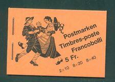 Switzerland 1979  5 Fr advert  Flora  Stamp on back cover  Booklet