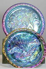 Indiana Glass Carnival Iridescent Spirit of 76 And Bicentennial Plates