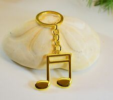 Golden Music Note Keychain, Double Eighth (K20-4G)