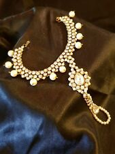 Anklets. Crystals & pearl.
