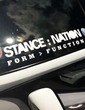 """STANCE NATION"" WINDSCREEN /PANEL BUMPER STICKER DECAL GRAPHIC VINYL  550x100mm"