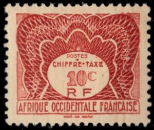 """FRENCH WEST AFRICA J1 - Numeral of Value """"Postage Due"""" (pb38801)"""