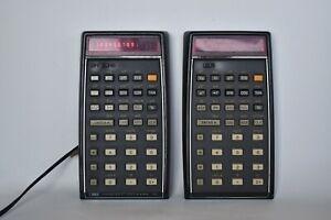 2 vintage Hewlett Packard HP 45 Handheld Portable Scientific calculators