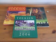 THREE LORD OF THE RINGS BOOKS. HOBBIT DIARY 2006, WORLD OF TOLKIEN & MOVIE GUIDE