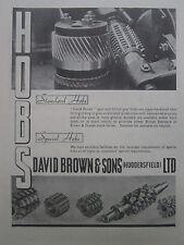 5/1946 PUB DAVID BROWN STANDARD SPECIAL HOBS AIRCRAFT INDUSTRY ORIGINAL AD