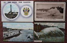 4x Blackpool c1900-1913 Vintage Postcard PC Lancashire