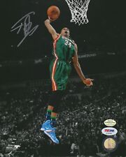 "Giannis Antetokounmpo ""Dunk Contest"" autographed 8x10 signed NBA photo (PSA/DNA)"