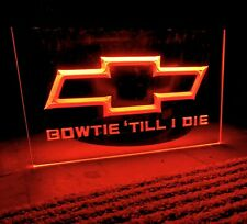 Chevrolet Bow Tie Led Neon Red Light Sign 8x12