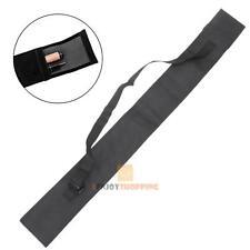 "45"" (115cm) Pool Cue Bag for 3/4 Billiard Stick Storage  Fishing Rod Case Black"