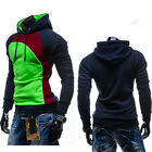 Men's Winter Cotton Hoodie Sweater Hoody Coat Jacket Jumper Pullover Outwear M L