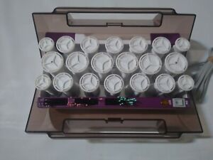 Vidal Sassoon Hairsetter 20 Hot Rollers Curlers Set VS321 with 19 Clips. Pageant